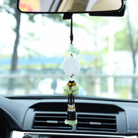Wholesale Chinese Car Accessories Interior - Chinese Style Lucky Charm Pendant car jewelry car Hanging Pearl Ornaments Car Pearl Pendant interior decoration