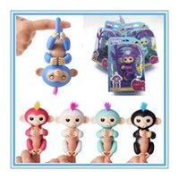 Wholesale Electronic Party - 6 Colors Presale Fingerlings Interactive Baby Monkey Finger Toys Monkey Electronic Smart Touch Fingers Monkey Party Favor CCA7368 10pcs