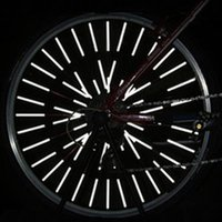 12Pcs / Set Bicycle Bicycle Wheel Spoke Reflector Reflective Mount Clip Tube DIY Silver Bicycle Reflective Spokes