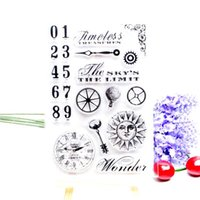 Wholesale Wholesale Clock Supplies - Wholesale- DECORA 1PCS Flower Clock Butterfly Design Silicone Transparent Clear Stamp DIY Scrapbooking Christmas Decoration Supplies