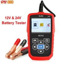 Wholesale 12v Battery Analyzer Tester - 12V & 24V Digital Car Battery Tester NexBat NB360 Battery Analyzer & Starter Test Diagnostic Tool With Russian Multi languages