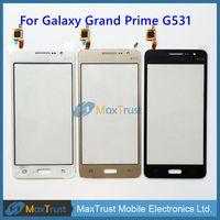 samsung grand prime gold al por mayor-IC original para Samsung Galaxy Grand Prime G531F G531 G531H Pantalla táctil Digitalizador Panel de vidrio frontal Sensor Negro Color oro blanco