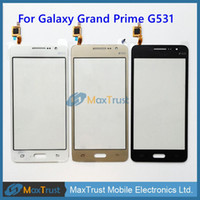 Wholesale capacitive touch ic - Original IC For Samsung Galaxy Grand Prime G531F G531 G531H Touch Screen Digitizer Front Glass Panel Sensor Black White Gold Color