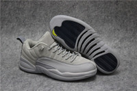 Wholesale Cool Shoes For Sale - 2017 New Retro 12 Low Wolf Grey Men Basketball Shoes High Quality 12s Cool Grey Sneakers For Sale