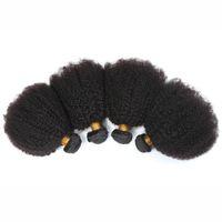 ingrosso capelli afro curl tessuto umano-Mongolo 4B 4C Estensione dei capelli umani 8A Mongolo crespo arricciato Capelli Vergini 3Pcs Afro crespo ricci tessuto dei capelli umani