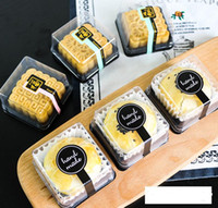 лоток для лунного пирога оптовых-1000шт Оптовая бесплатная доставка, 50 г Луна торт лотки Луна торт упаковочной коробки пластик снизу прозрачная крышка золото