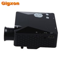 Wholesale mini home theater system - Wholesale- Gigxon - G810 HD Home Theater Cinema LCD Image System 80 Lumens MINI LED Projector with AV VGA SD USB HDMI free shipping