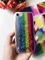 Wholesale Star A8 - For Samsung Galaxy A8 A7 2017 A720 A520 A320 A710 2016 Colorful Hybrid Oil Liquid Glitter Phone Case Moving Star Shining Rainbox Cover
