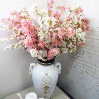 ingrosso fiore artificiale di qualità-Fiori di ciliegio giapponesi di alta qualità Fiore di seta artificiale Home hotel mall decorazione di nozze fiori Foto puntelli in studio