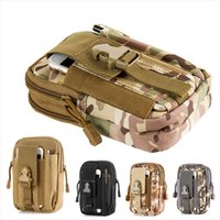 Wholesale Military Mobile Phones - Tactical Waist Bag 5.7 inch Mobile Phone Bag For SAMSUNG Note 3 4 Tactical Molle Pouch EDC Military Bag Men's Travel bags