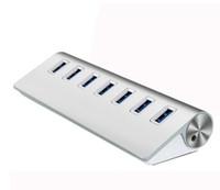 varios adaptadores usb al por mayor-TypeC USB 3.1 Hub de alta velocidad ultrafino Type-c a múltiples 7 puertos Hub Adapter para la nueva Macbook Tablet Laptop