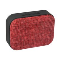 Wholesale Mini Subwoofer Smartphone - New Fabric Art Square Bluetooth Speaker Wireless Handfree Speaker Radio FM 3D Stereo Surround Subwoofer For PC Smartphone ipad
