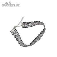 Wholesale Korean Cute Sexy - 2017 New Arrive Korean Style Handmade Sexy Lace Chokers Necklace Sweet Cute Vintage Collares Elegant for Women Gift YR44