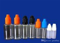 Wholesale Plastic Dropper Bottles Needle - Needle bottle PET PE 5ml 10ml 15ml 20ml 30ml 50ml Plastic Dropper Bottle With Childproof Cap E Liquid E-cig Dropper Bottle DHL FEDEX