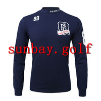 T-SHIRT GOLF PEARLY GATES PORCELLANEA IN PELLE PER GOLF CLUB CLOTHING cotone a maniche lunghe T-SHIRT PER TAGLIE UOMO