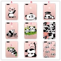 Étui souple de bande dessinée TPU pour Iphone 7 PLUS Iphone7 6 6S SE 5 5S lettre Panda Doughnuts Ice Cream Ours Silicon Phone Shop peau douce couverture 100PCS