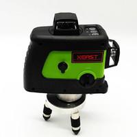 auto-nivelamento de laser de linha cruzada venda por atacado-Freeshipping nível de laser Profissional 360 12 linha verde 3D Nível de Nível de Laser Auto-nivelamento Cruz Linha 3D Laser Nível de Feixe verde