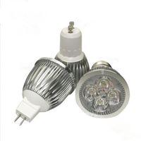 Wholesale 5x3w Ceiling - 5x3W 15W MR16 GU10 E27 Dimmable LED SpotLight Bulb Lamp Aluminum Spot Light Downlight Silver Body Warm Cool White Ceiling Lighting