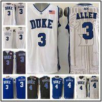 5e2b4b8c4 Wholesale 3 Grayson Allen 4 JJ Redick Duke Blue Devils Men s College Jerseys  High Quality Basketball Shirts Embroidery Logos Free Shipp
