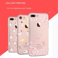Wholesale Import Iphone Cases - Ultra thin cell phone soft cover case for iPhone 6 6s plus iPhone 7 plus with relief hollow painted imported TPU phone shell