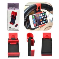 Wholesale Cheap Car Wheels - Cheap price 5 Colors Car Steering Wheel Phone Socket Holder SMART Clip Car Bike Mount for Cell phone GPS With Retail Package