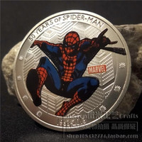 Wholesale Marvel Comics Spider - 1pcs, The 50th anniversary of spider-man is a gift for marvel comics' superhero film and television commemorative medallion