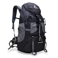 Wholesale Mountaineering Rucksack - 50L Outdoor Backpack Camping Bag Waterproof Mountaineering Hiking Backpacks Molle Sport Bag Climbing Rucksack