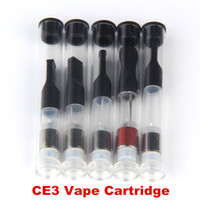 Wholesale E Cigs Cartomizer - Empty Vape Pen E Cigarette Cartomizer Glass Oil Wickless Ceramic Cartridge .5 1 ml Round Tip Atomizer for Open Vaporizer Battery e cigs