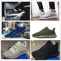 Wholesale Knitting Summer Shoes - Wholesale 2017 Mens Womens Originals Tubular Shadow Knit Core Black White Cardboard Sneakers Running Shoes 350 boost 3D Sneakers 5-10