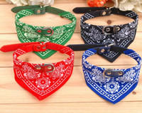 Wholesale Dog Leather Collars Xl - Free Shipping S M L XL Size Cute Dog Cat Pet Adjustable Scarf Pet Collar Neckerchief,100pcs lot