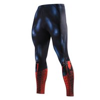 Wholesale Spiderman Trousers - Spiderman Tights Mens Compression Pants Jogger Fitness Excercise Bodybuilding Long Trousers Pants