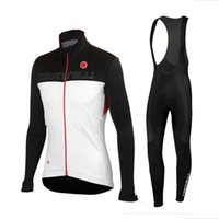 Wholesale Castelli Autumn - 2016 Castelli Autumn ropa ciclismo Long Sleeves Bule cycling jersey bike maillot mountain Bicicleta cycling clothing Bib Sets