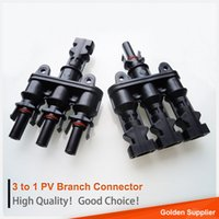 Wholesale Mc4 Connectors For Pv - 3 to 1 MC4 solar pv branch connector IP 67 waterproof mc4 branch plug connector for solar panel system