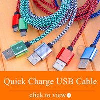 Wholesale Micro Usb Charger 2a - Micro USB Cable Type C Cable Faster Charger for SmartPhone Alloy Hemp Rope Braided USB Cord 2A Quick Charge Cord for Android Samsung