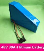 bicicleta elétrica da bateria venda por atacado-Bateria elétrica da bicicleta do lítio do Li-íon da bateria da bicicleta de 48V 30AH ciclo de 1000 vezes com o carregador de BMS e de 2A + saco