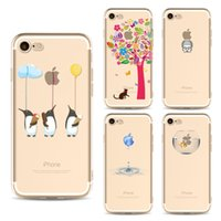 Wholesale Paint Abs Plastic - For Apple iPhone X cases cute cartoon fashion TPU painting cell phone cases ultra thin Back silicone Cover shell for iphone 5S 6S 7 8 Plus