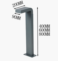 Wholesale Post Stands - 2 pieces square pole bollard column LED light lamp villa garden standing light modern waterproof Outdoor post LED lawn lamp