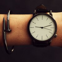 Wholesale Large Watches For Mens - Female students watch Korean fashion trend simple Large Dial Mens belt for a couple watches watch