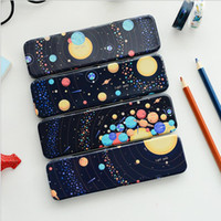 Wholesale Iron Stationery Pencil Box - Wholesale- 1pcs pencil case dream Star stationery school iron box pencil bag for students school supplies The creative pen boxes