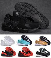 Wholesale Newest Running Shoes - Newest Air Huarache I Running Shoes For Men Women,Green White Black Rose Gold Sneakers Triple Huaraches 1 Trainers huraches Sports Shoes