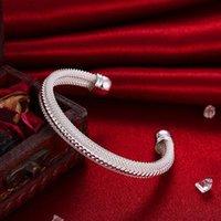 silberne knebelverschlüsse freies verschiffen großhandel-Großverkauf - Kleinster Preis des Kleinhandels Weihnachtsgeschenk, freies Verschiffen, neues silbernes Art und Weisearmband B021 925