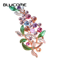 Bijoux di lusso Grande Smalto Esmaltes Foglia Fiori Spille Epoxy Corsage Wedding Broach Bouquet Hijab Pin Broches Festa Donna Lot
