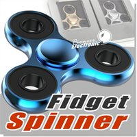 Wholesale Blue Upgrades - Upgraded version Metal Hand Spinner Fidget Toy Spinner Aluminum material High Speed 3-4 Min Perfect Stress Reducer and Killing time