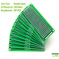 Wholesale 10pcs x7cm double side PCB universal Pcb DIY Pcb PCB Board