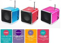 Wholesale micro sd card mp3 player resale online - Hot Bluetwo TD V26 Mini Speaker Portable Digital LCD Sound Micro SD TF FM Radio Music Stereo Loudspeaker for Laptop Mobile Phone MP3