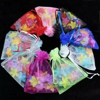 Hot Sales! Multicolor 100 PCS avec des sacs à main Organza Drawstring