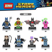 Wholesale Mr Mix - 120pcs Mix Lot Super Heroes Series Minifig Bat Robin Jacks Catwoman Mr. Freeze Pirates XINH X0111 Mini Building Blocks Figures