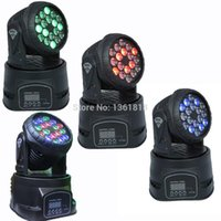Wholesale Led Rgb Moving Head Wash - (4 pieces lot) led Moving Head Light DMX wash Stage Lights Moving Head mini Spot Dmx512 13 Ch led RGB Light