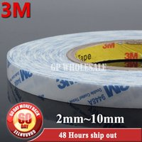 Vente en gros - 2016 50M / Roll (2mm ~ 10mm large choix,) 3M Scotch Strong Double face adhésive Tissue Tape pour iphone ipad Huawei Phone Screen LCD