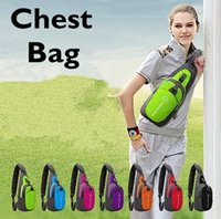 Wholesale Tennis Backpack Wholesale - Oxford Chest Bag Outdoor Sport Travel Hiking Shoulder Sling Backpack Pouch Functional Fanny Bags Waist Packs CCA6501 30pcs